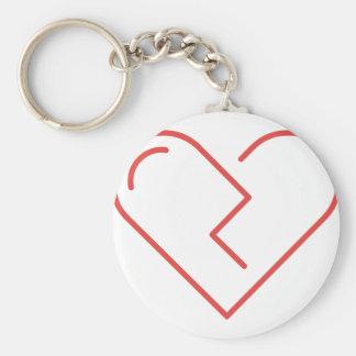 Porte-clés Le coeur brisé