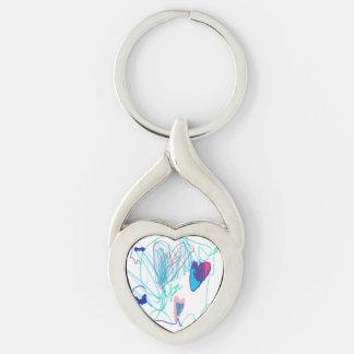 Porte-clés Le coeur d'Amelia
