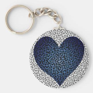 Porte-clés Le coeur est un porte - clé de bleu de labyrinthe