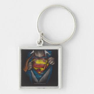 Porte-clés Le coffre de Superman   indiquent le croquis