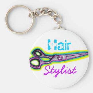 Porte-clés Le coiffeur cisaille le porte - clé
