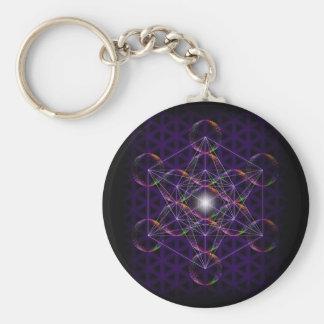 Porte-clés Le cube/fleur de Metatron de la vie #2