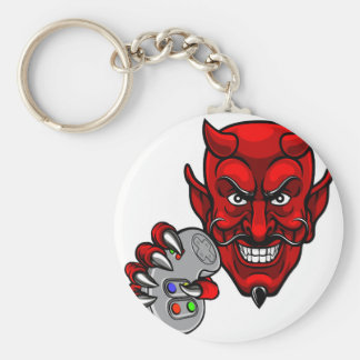 Porte-clés Le diable Esports folâtre la mascotte de Gamer
