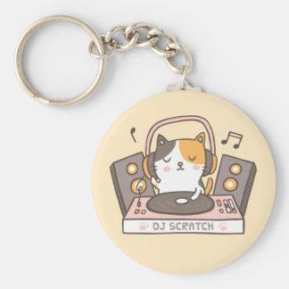 Porte-clés Le DJ mignon rayent le porte - clé de calembour de