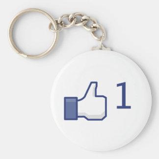 Porte-clés le facebook aiment le bouton