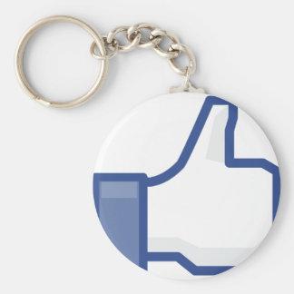 Porte-clés le facebook M'AIMENT manier maladroitement !