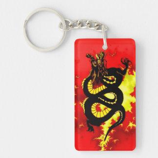 Porte-clés Le feu noir de dragon