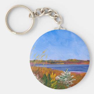 Porte-clés Le fleuve Delaware d'or