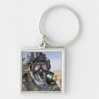 Porte-clés Le fusilier met dessus son masque de gaz