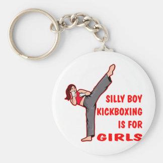 Porte-clés Le garçon idiot Kickboxing est pour des filles