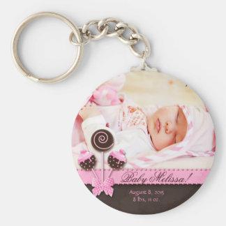 Porte-clés Le gâteau de porte - clé de photo de bébé saute le