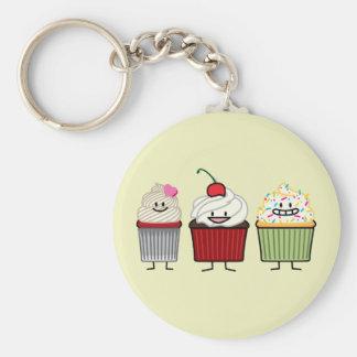 Porte-clés Le givrage de famille de petit gâteau arrose le