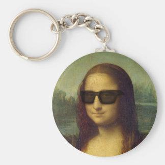 Porte-clés Le hippie heureux Mona Lisa ombrage Leonardo da