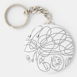 Porte-clés Le labyrinthe raye le jeu des enfants