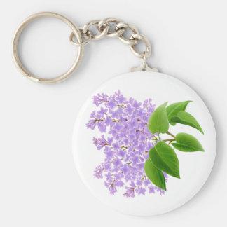 Porte-clés Le lilas de ressort fleurit le porte - clé
