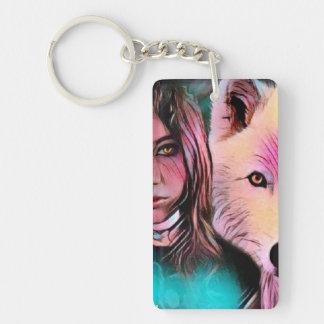 Porte-clés Le loup à l'intérieur du porte - clé