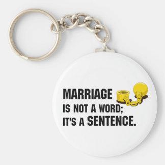 Porte-clés Le mariage n'est pas un porte - clé de mot
