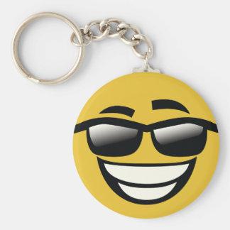 Porte-clés Le mauvais au type Emoji de cool d'os