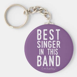 Porte-clés Le meilleur chanteur (probablement) (blanc)