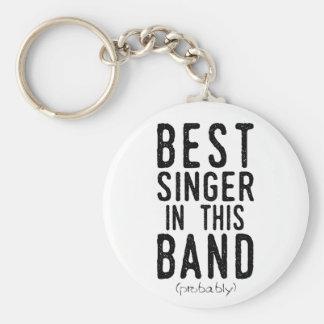 Porte-clés Le meilleur chanteur (probablement) (noir)