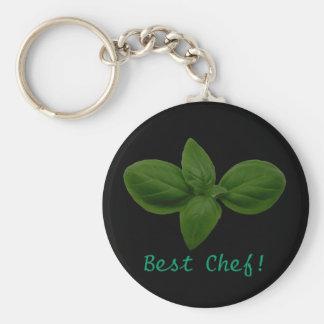 Porte-clés Le meilleur chef ! Porte - clé de feuille de Basil