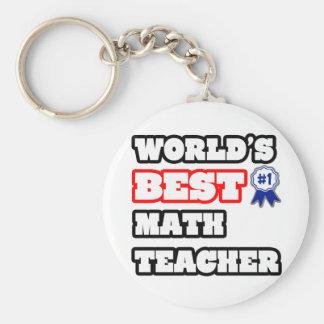 Porte-clés Le meilleur professeur de maths du monde
