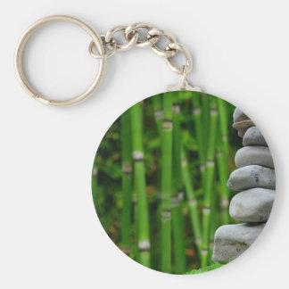 Porte-clés Le moine de méditation de jardin de zen lapide le