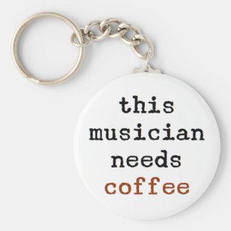 Porte-clés le musicien a besoin de café