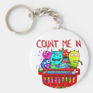 Porte-clés Le panier de Deplorables, me comptent dedans