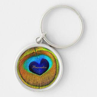 Porte-clés Le paon fait varier le pas de l'oeil de l'amour
