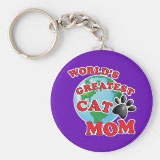 Porte-clés Le plus grand empreinte de patte de maman du chat