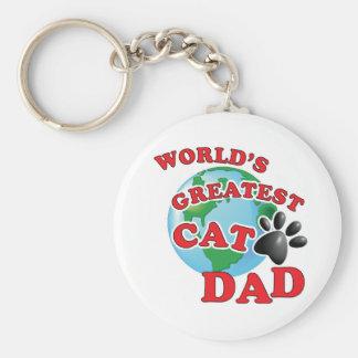 Porte-clés Le plus grand empreinte de patte de papa du chat
