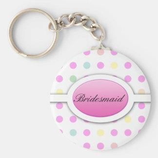Porte-clés Le point de polka en pastel soit mon porte - clé