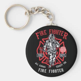 Porte-clés Le pompier | non tous les hommes sont égal