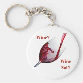 Porte-clés Le porte - clé de l'amateur de vin - vin ? Vin pas
