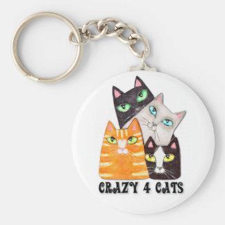 Porte-clés Le porte - clé de l'amoureux des chats