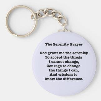 Porte-clés Le porte - clé des textes de prière de sérénité