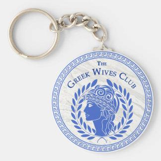 Porte-clés Le porte - clé grec de club d'épouses