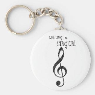 """Porte-clés Le porte - clé """"long vivant de musique et chantent"""