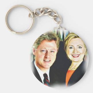 Porte-clés Le Président Bill Clinton et le Président Hillary