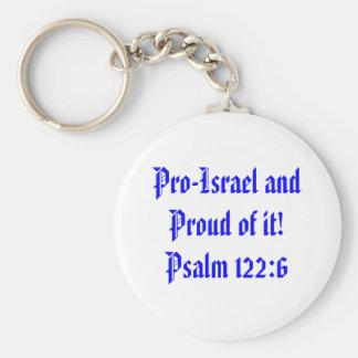 Porte-clés Le Pro-Israël et fier de lui ! 122:6 de psaume
