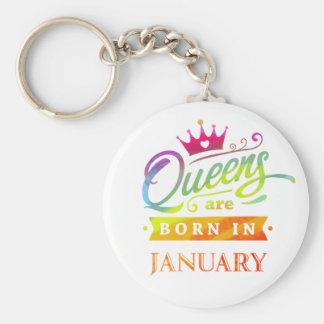 Porte-clés Le Queens sont en janvier cadeau d'anniversaire né