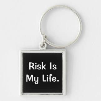Porte-clés Le risque est ma vie - dire profond de risque