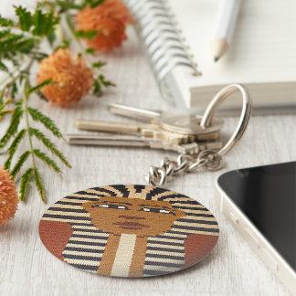 Porte-clés Le Roi noir bronzage Tut Crochet Print de pharaon