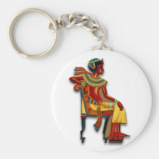 Porte-clés Le Roi Tut sur son trône