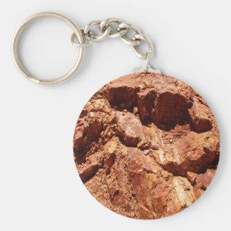 Porte-clés Le rouge bascule le porte - clé de géologie