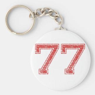 Porte-clés Le rouge folâtre Jerzee le numéro 77