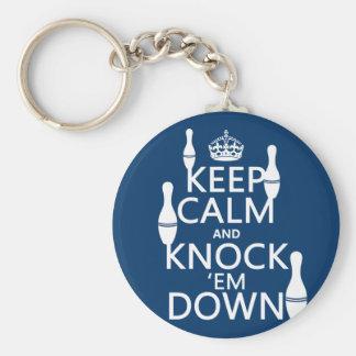 Porte-clés Le roulement gardent le calme et les démantèlent -