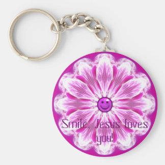 Porte-clés Le sourire, Jésus vous aime !