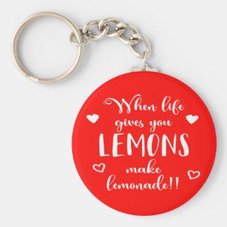 Porte-clés Le succès d'attitude de citrons rêve la citation